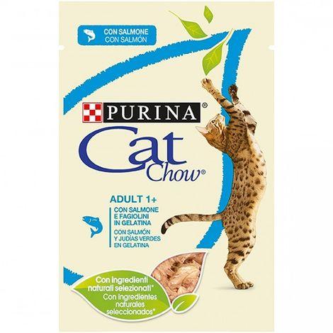 Alimento Húmedo Completo PURINA CAT CHOW SALMÓN para Gatos 12 x 85 gr