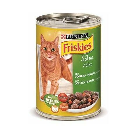 Alimento húmedo EN SALSA PURINA FRISKIES CONEJO&POLLO para gatos