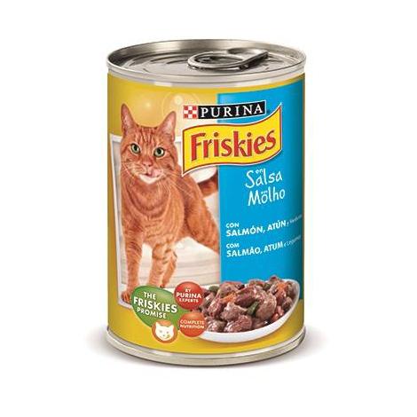 Alimento húmedo EN SALSA PURINA FRISKIES SALMÓN&ATÚN para gatos