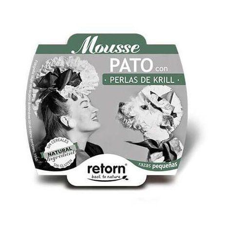 Alimento húmedo para perro RETORN MOUSSE PATO CON PERLAS DE KRILL 100 gr