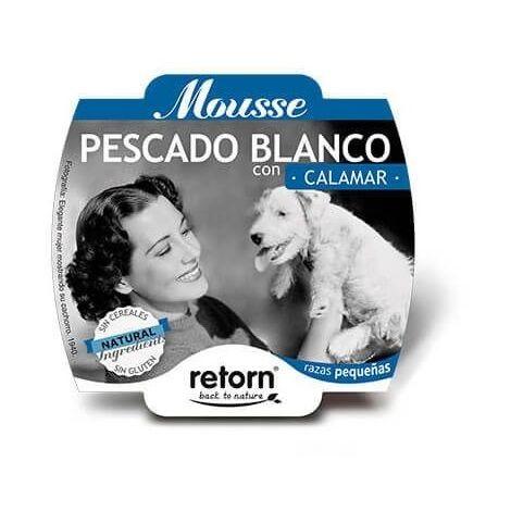 Alimento húmedo para perro RETORN MOUSSE PESCADO BLANCO CON CALAMAR 100 gr.