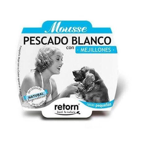Alimento húmedo para perro RETORN MOUSSE PESCADO Y MEJILLONES 100 gr
