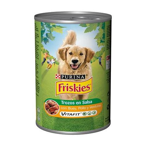 Alimento húmedo PURINA FRISKIES VITAFIT CON BUEY, POLLO Y VERDURAS para perros adultos