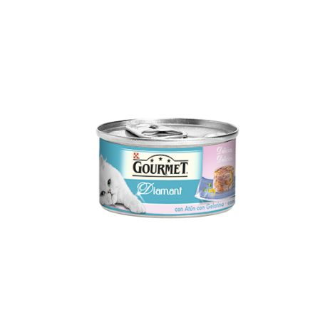 Alimento para gato húmedo PURINA GOURMET ATÚN CON GAMBAS 85 GR.