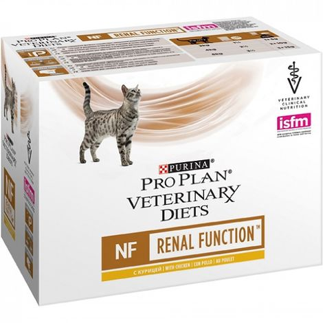 Alimento PURINA PRO PLAN VETERINARY DIETS FELINE NF 85g para gatos con insuficiencia renal