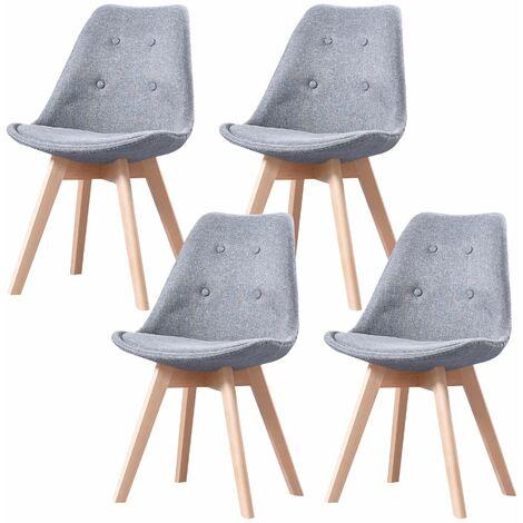 ALIX - Lot de 2 tabourets scandinave - Bleu canard - pieds en bois massif design salle a manger salon - 58 x 49 x 102 cm - Bleu canard