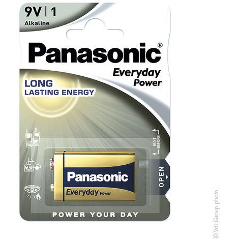 Alkaline battery (blister) x1 Panasonic Everyday Power 6LR61 9V 680mAh