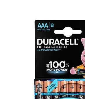 Alkaline battery (blister) x8 Duracell Ultra Power LR03 - AAA 1.5V 1175mAh
