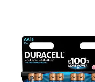 Alkaline battery (blister) x8 Duracell Ultra Power LR6 - AA 1.5V 2700mAh
