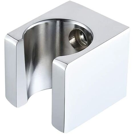 All Brass Shower Bracket Wall Mounted Shower Head Bracket Shower Head Holder for Handheld Sprayer Wand For Bathroom Chrome, C107-CH