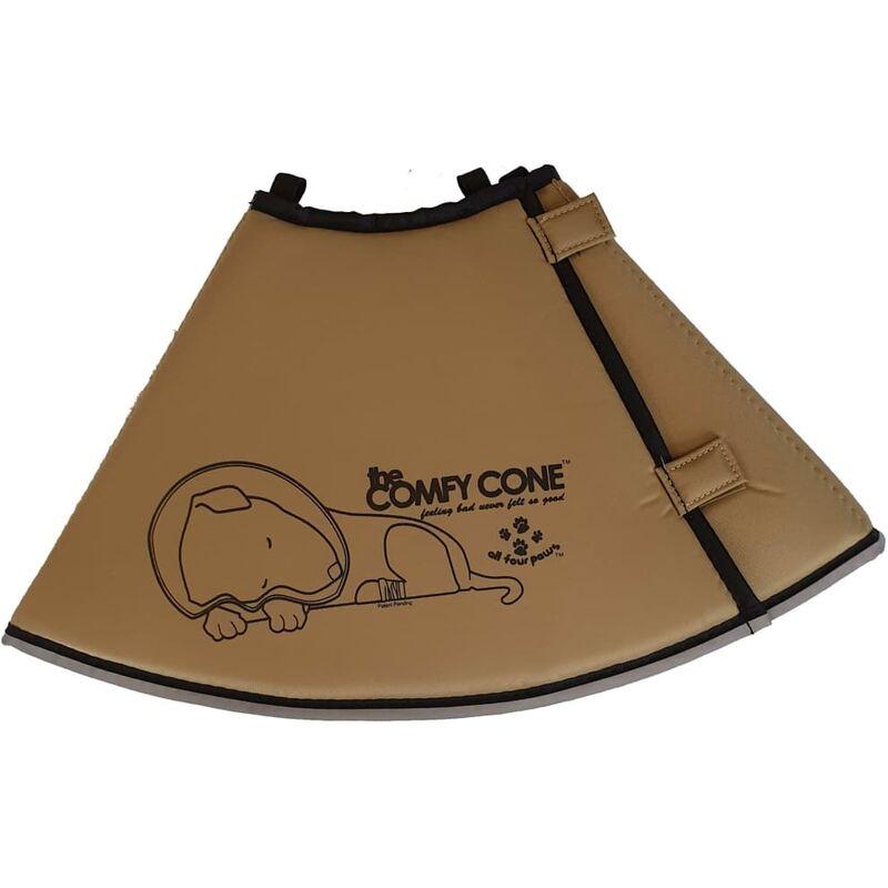 Image of Pet E-collar Comfy Cone XXL 37.5 cm Tan - Beige - All Four Paws