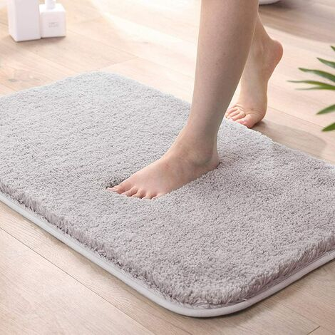 All-in-one bath mat, washable non-slip bath mat, plush bath mat, bath mat for tub, shower and bedroom, 50x80cm