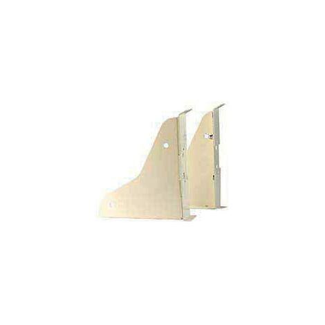 Console blanches pour lavabo collectif Allia Publica - 2pièces