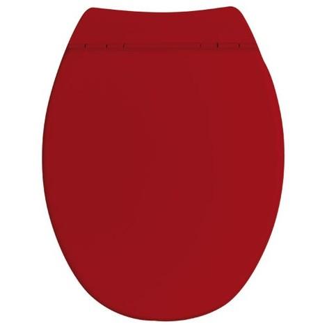 ALLIBERT - Abattant WC Sérénity 2 - bois compressé - rouge