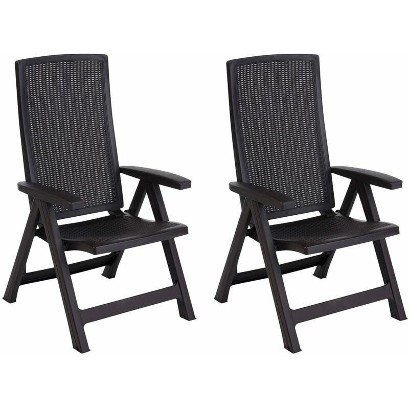 Chaise de jardin inclinable Montreal Graphite 222971 - Allibert