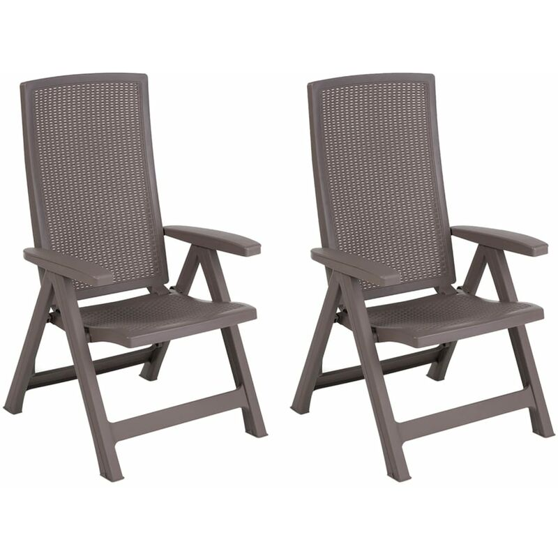 Chaise de jardin inclinable Montreal Cappuccino 223476 - Allibert
