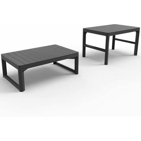 Allibert Garden Table Lyon Height Adjustable Furniture Graphite/Cappuccino