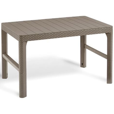 Allibert Garden Table Lyon Height Adjustable Furniture Graphite/Cappuccino