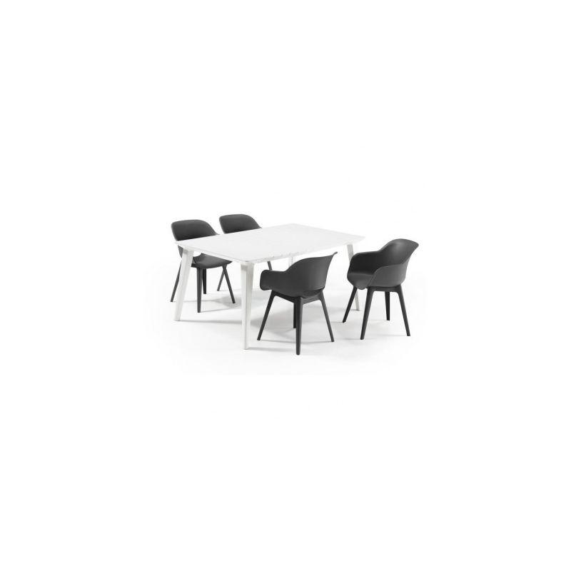 ALLIBERT JARDIN Table Lima 160 6 personnes - Design contemporain - Blanc