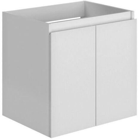 Allibert - Meuble sous-plan 60 cm 2 portes 1 étagère en bois couleur blanc brillant laqué - LIVO