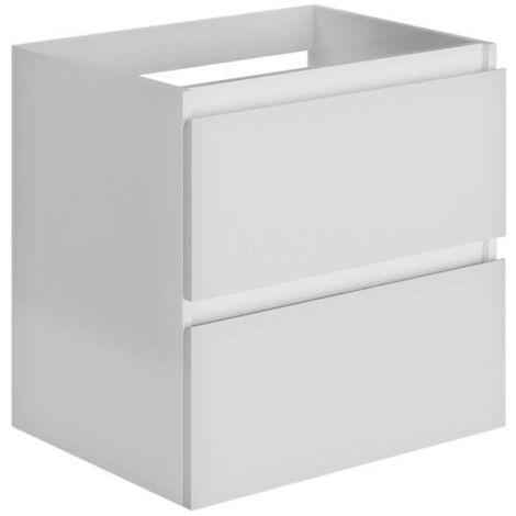 Allibert - Meuble sous-plan 60 cm 2 tiroirs couleur blanc brillant laqué - LIVO