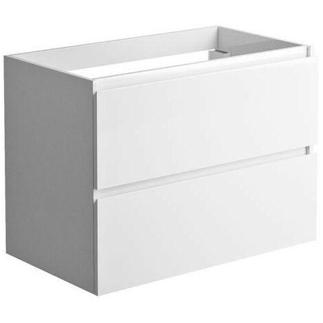 Allibert - Meuble sous-plan 80 cm 2 tiroirs couleur blanc brillant laqué - LIVO