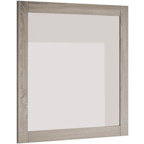 Miroir cadre avec étagère Sheffield 80 cm