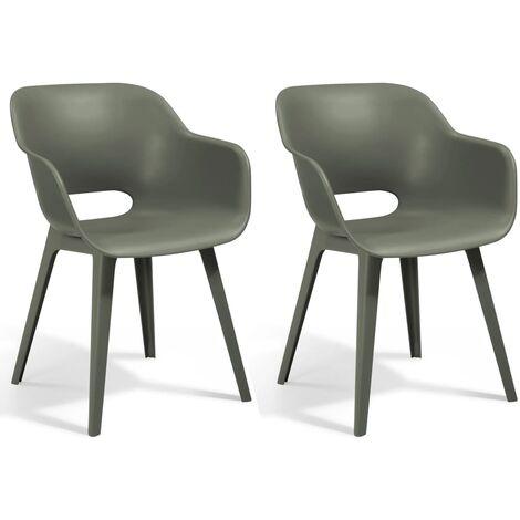 Allibert Outdoor Chair Akola Romarin 2 pcs - Grey