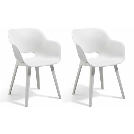 Allibert Outdoor Chairs Akola 2 pcs White