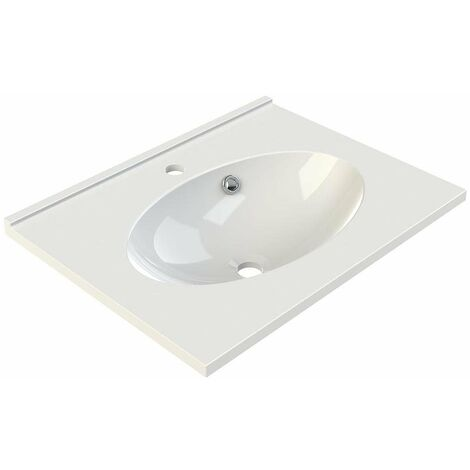 Allibert - Plan de toilette 60 cm simple vasque blanc - CUP