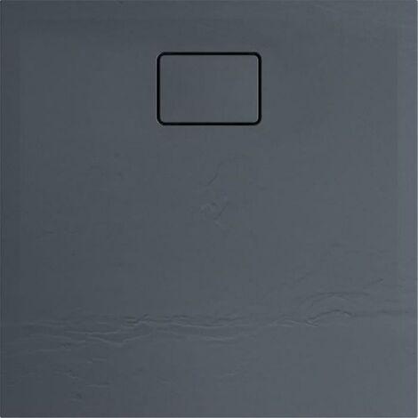 ALLIBERT Receveur de douche effet pierre Terreno - 80x80 cm - Gris