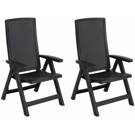 Allibert Reclining Garden Chair Montreal Outdoor Seat Graphite/Cappuccino