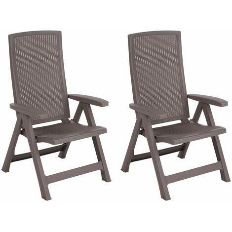 Allibert Reclining Garden Chair Montreal Outdoor Seat Graphite/Cappuccino