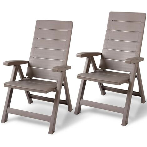 Allibert Reclining Garden Chairs Brasilia 2 pcs Cappuccino 223088