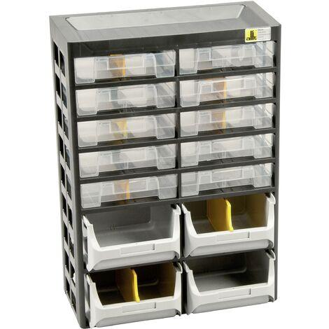 """main image of """"Allit 458140 Casier de rangement VarioPlus Basic D 21 (l x H x P) 305 x 435 x 170 mm noir, gris, jaune 1 pc(s) C586701"""""""