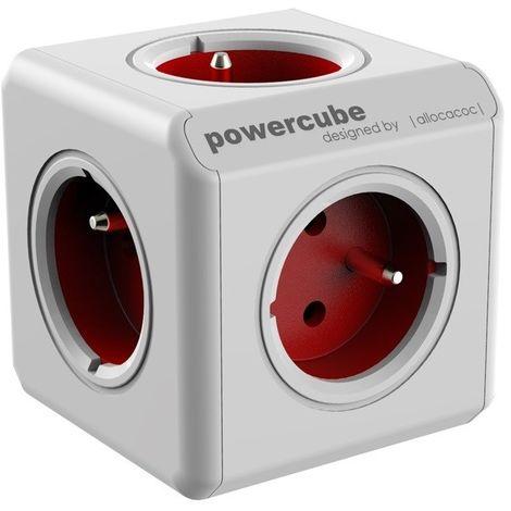 ALLOCACOC POWERCUBE ORIGINAL ROUGE, 5 PRISES 230V, FR, BLANC ET ROUGE POWERCUBE RED 2100RD