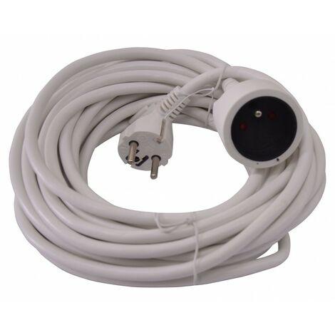 Allonge Electrique 10M-3G*1.5Mm2-Blanc