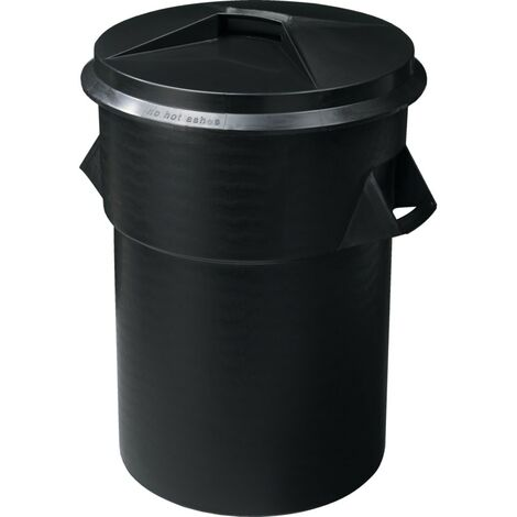 Allsigns IWC6 Hygiene Black Waste Bin - 95 Litre