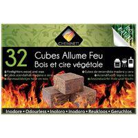 Allume feu 32 cubes 100% naturel