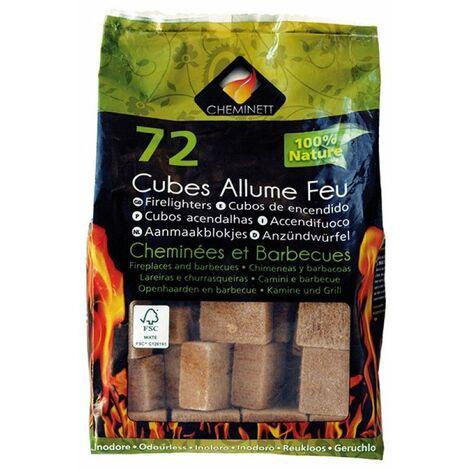 allume feu 72 cubes 100% naturel