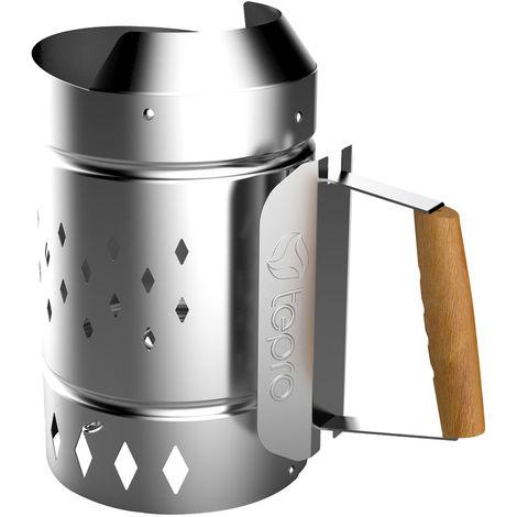 Allume-feu briquet rapide gril de démarreur allume-feu cheminée XL en acier galvanisé charbon Accessoires Tepro 8331