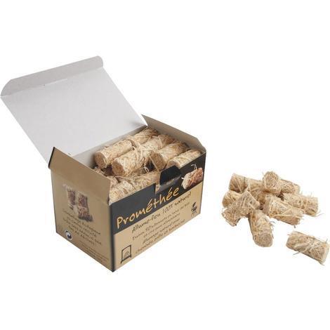 Allume-feu en laine de bois et cire pure alimentaire