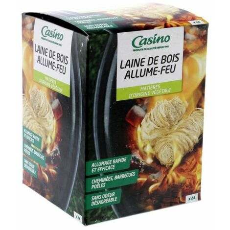 Allume-Feu Laine de Bois - 24 pieces