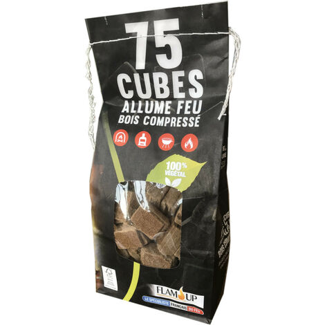 Allume Feu Végétal Sachet 75 Cubes