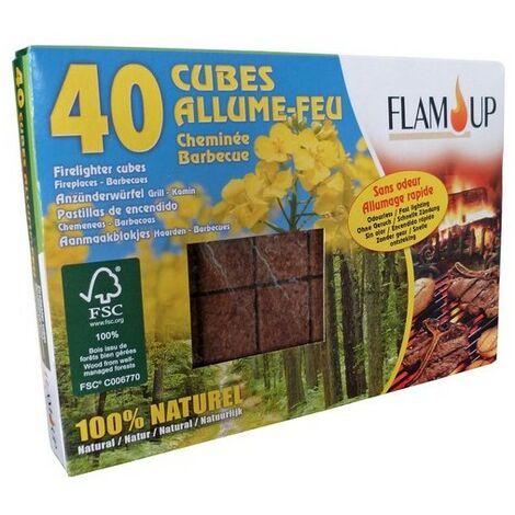 Allume tous feux 100% Naturel x40 cubes