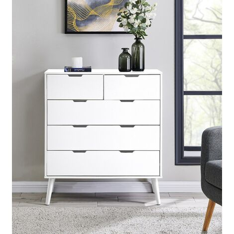 """main image of """"Alma Large White Chest of Drawers"""""""