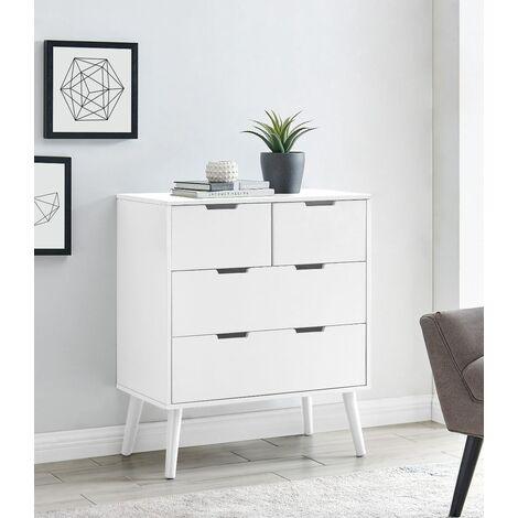 "main image of ""Alma Medium White Chest of Drawers"""