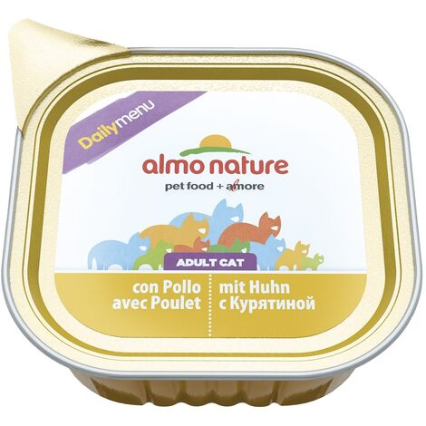 Almo Nature Chat Daily Poulet – Barquette, 100 g