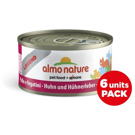 Almo Nature Chat Legend Poulet Foie Pack, 6 x 70 g