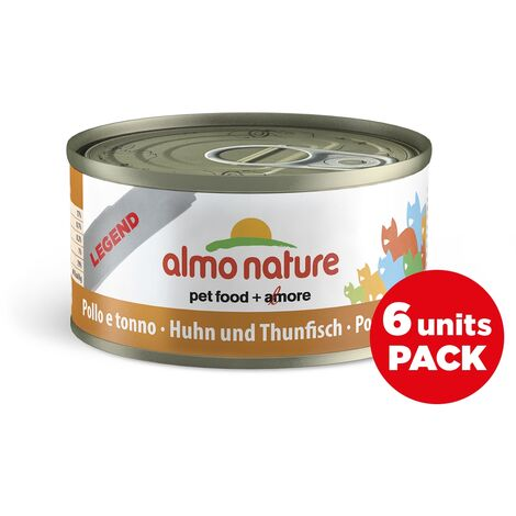 Almo Nature Chat Legend Thon Poulet Fromage Pack, 6 x 70 g